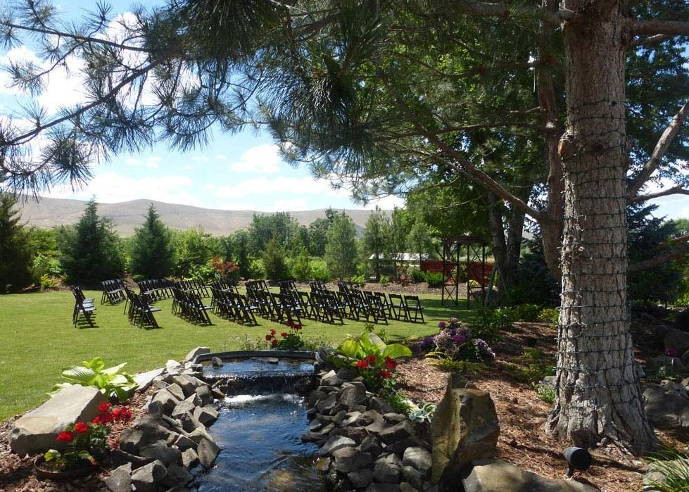 Outdoor wedding/event space.